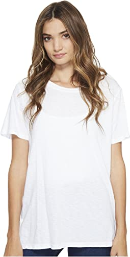 Michael Stars - Supima Cotton Slub Short Sleeve Boyfriend Tee