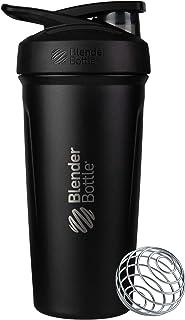 BlenderBottle C03665 Strada Insulated Shaker Bottle with Locking Lid, 24-Ounce, Black