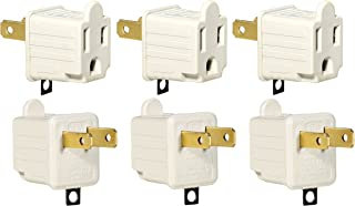 3-Prong to 2-Prong Adapter Grounding Converter 3 Pin to 2 Pin Power AC Ground Lifter For wall Outlets Plugs, Electrical, Household, Workshops, Industrial, Machinery, And Appliances, 6-Piece.