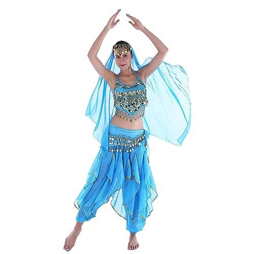 833b81fe30c76 Seawhisper 12 Colors Belly Dance India Arab Dance Halloween Carnival Costume  Set