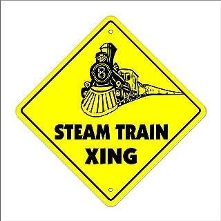 Steam Train Crossing Sign Zone Xing   Indoor/Outdoor   12