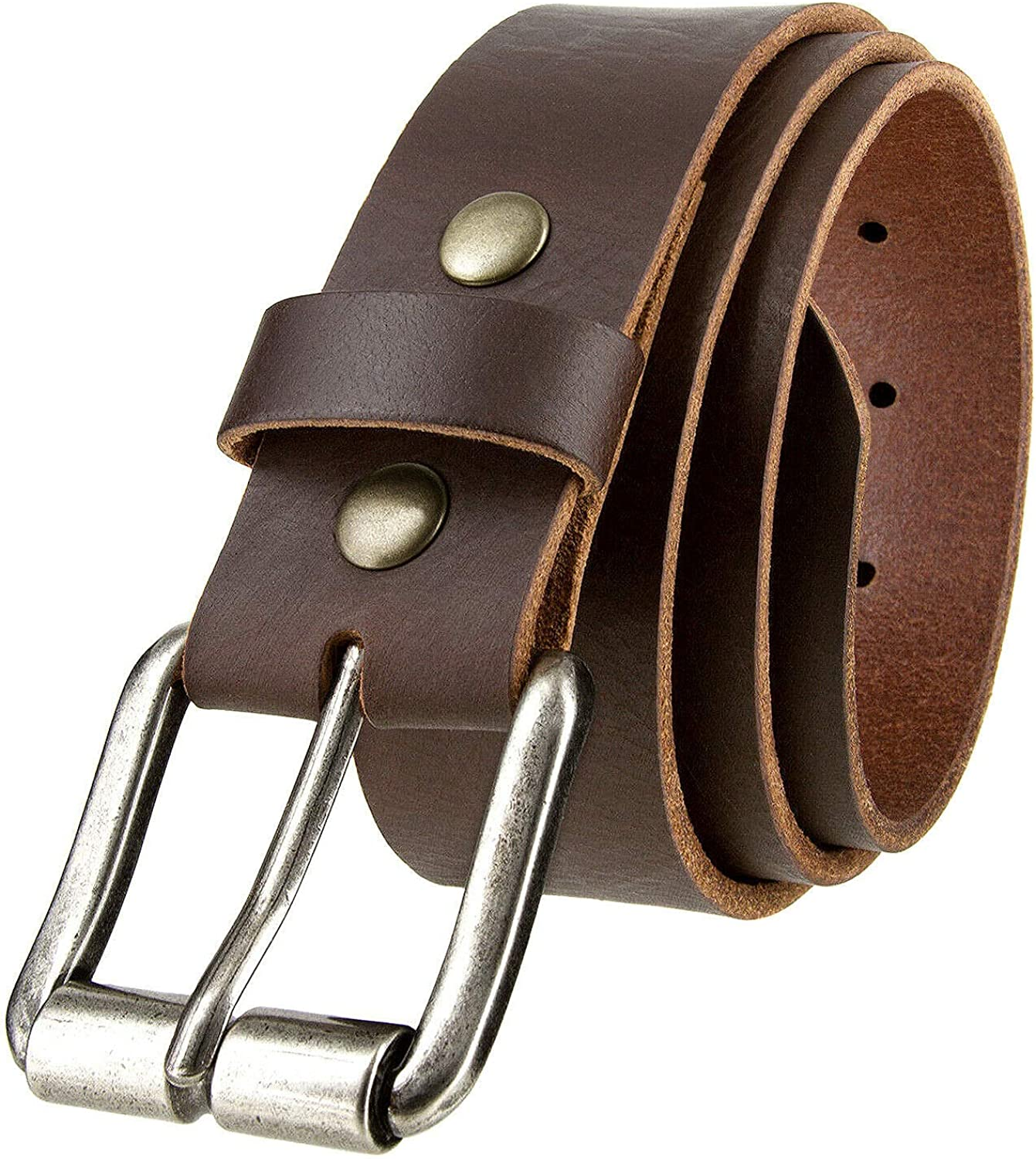 Genuine One Piece Full Grain Buffalo Leather Belt 2021 autumn and winter new discount Casual Jean 1-