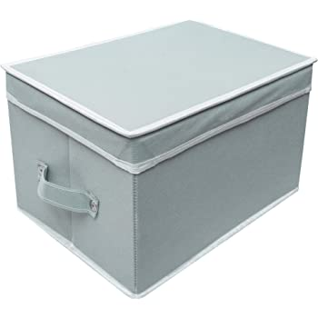 Cotanza Toy Organizer Storage box for kid with Top Lid, Foldable Toys organiser, Non-Woven Multi-Utility Organizer(Grey,Set of 1)