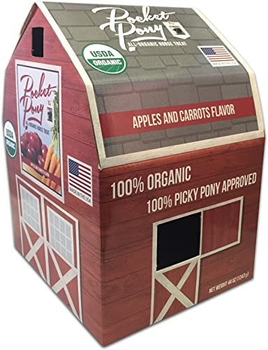 discount Wet outlet online sale Noses Pocket Pony Horse Treats, Made in USA, new arrival 100% Organic Human Grade, Grain Free, Gluten Free, 44 Oz Box outlet online sale