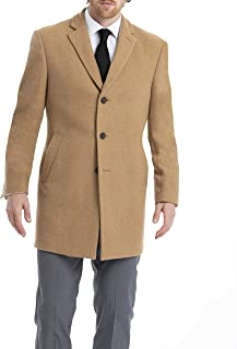 Men's Slim Fit Wool Blend Overcoat Jacket