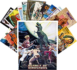 Postcard Set 24 cards Dinosaur Monster Prehistoric Vintage Trash Movie Posters Ads
