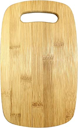 """Gourmet Home Products Bamboo Cutting Board Set with Cut Out Handles (3 Pack), Natural 12.5"""" x 8"""" Natural"""