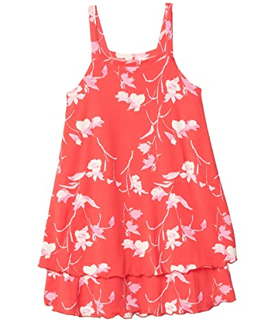 Maaji Kids Petite Rose Short Dress Cover-Up (Toddler/Little Kids/Big Kids) (Candy Apple Red Floral) Girl