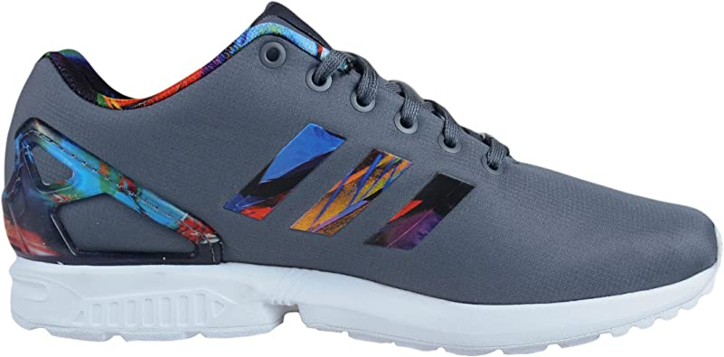 adidas ZX Flux Print Running Shoes Light Onix Light Onix RED AF6324 Size 9.5