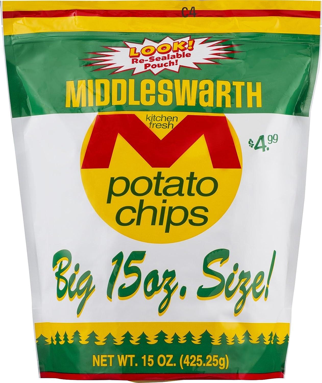 Import Middleswarth Kitchen Fresh Potato Chips - Big 15 Oz. 2 Max 88% OFF Bag