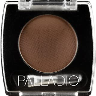 Palladio Brow Powder for Eyebrows, Dark Brown, Soft and Natural Eyebrow Powder with Jojoba Oil & Shea Butter, Helps Enhance & Define Brows, Compact Size for Purse or Travel, Includes Applicator Brush