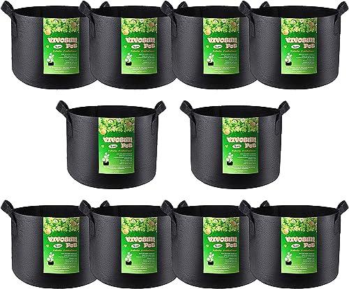 2021 VIVOSUN online sale 10-Pack 1 Gallon Grow Bag, Reinforced Planter Fabric Pot for online Gardening outlet online sale