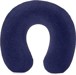 Amazon Basics - Almohada para cuello, de espuma viscoelástica, Azul marino