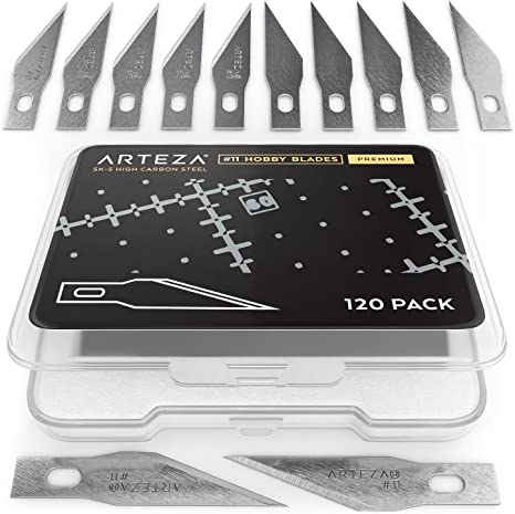 Pack of 120 Arteza #11 Hobby Blades