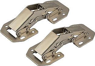 Gedotec Easyy-on Opschroefscharnier zonder veer, scharnier, voor kleppen en kasten, veerscharnier, verzinkt staal, 2 stuk...