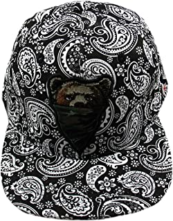 California Republic Bear Paisley Snapback Cap