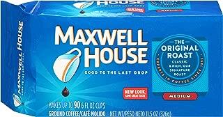 Maxwell House Original Medium Roast Ground Coffee (11.5 oz Bags, Pack of 12)