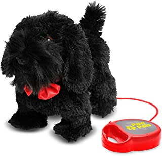 MEVA PawPals Kids Walking and Barking Puppy Dog Toy Pet with Remote Control Leash … (Black)