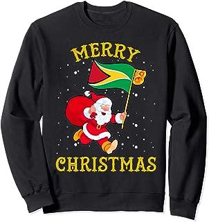 Santa Guyana Merry Christmas Xmas Sweatshirt