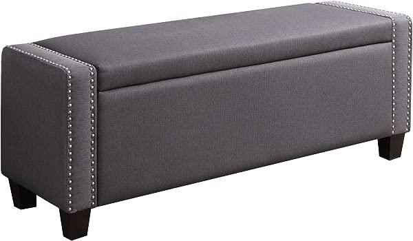 Pulaski DS 2178 132 Kenneth Storage Bed Bench 52 25 L X 17 0 W X 19 5 H Slate Grey