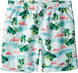 Flamingo Palm Print