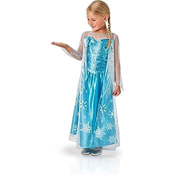 Rubies 620975-M - Disfraz de Elsa para niña, M (5-6 años): Amazon ...