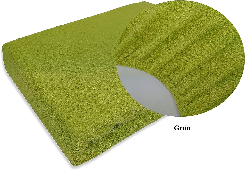 FROTTEE Spannbettlaken Spannbetttuch Bettlaken mit Gummizug in vielen Gr/ö/ßen und Farben Beige, 80 x 160 cm