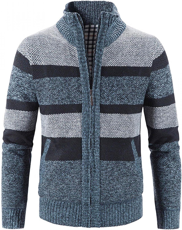 SUIQU Mens Knit Jacket Coat Autumn Long Warm New Award-winning store sales Sle Winter Cardigan