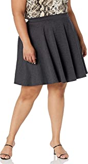 Star Vixen womens Plus-Size Short Stretch Ponte Full Circle Skater Skirt Skirt