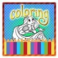 Long hair princess Coloring free