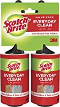 Scotch-Brite Lint Roller, Works great on dog, cat, and other animal hair, 2 Rollers, 56 Sheets Per Roller, 112 Sheets Total