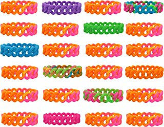 Kids Size KUDES Happy Shark Silicone Bracelets Cute Gaming Rubber Wristbands for Kids Birthday Party Supplies Favors Prize Rewards School Gifts