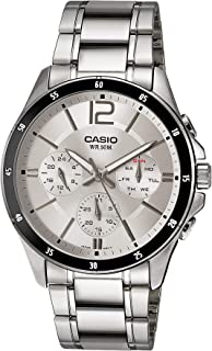 Casio Men's Silver Dial Stainless Steel Analog Watch - MTP-1374D-7AVDF