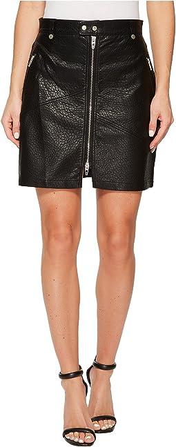 Blank NYC - Vegan Leather Zipper Detail Skirt in Sweet Talker