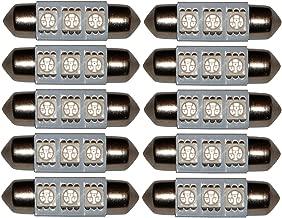 AERZETIX: 2 x Bombillas C5W 12V LED COB GLASS LENS filamento 39mm para iluminacion interior luces umbrales de puertas luz de matricula luz del techo del compartimiento del motor y del maletero
