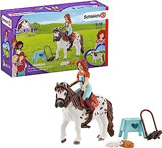 مجموعة مكونة من 9 العاب من شليش سبورت كلوب، العاب الأحصنة للفتيات والاولاد من عمر 5-12 سنة مع ميا وسبوتي