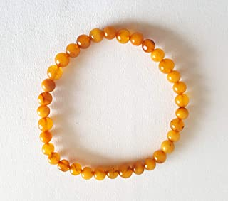 egg yolk amber bracelet
