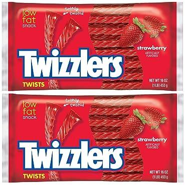 Twizzlers Strawberry Twist, bolsas de 16 onzas (paquete de 2)