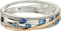 Neptune's Rings Gems Hinged Bangle