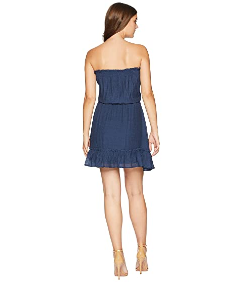 Outlet Release Dates Free Shipping Outlet Locations American Rose Lyra Ruffle Bottom Dress with Tassels Navy Sast For Sale Sast Online Sale From UK F0GovOHO