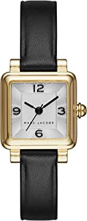 Marc Jacobs Women's 'Vic' Quartz Stainless Steel and Leather Casual Watch, Color:Black (Model: MJ1545)