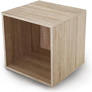 LOWYA カラーボックス 収納ボックス キューブボックス 幅39 単品 オープンタイプ オーク