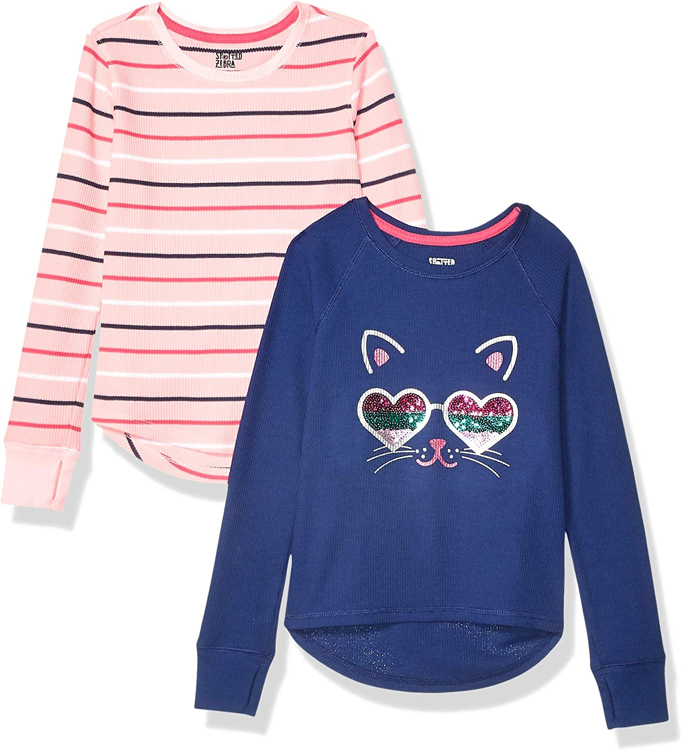 Pack of 5 Spotted Zebra Girls 5-Pack Long-Sleeve T-Shirts
