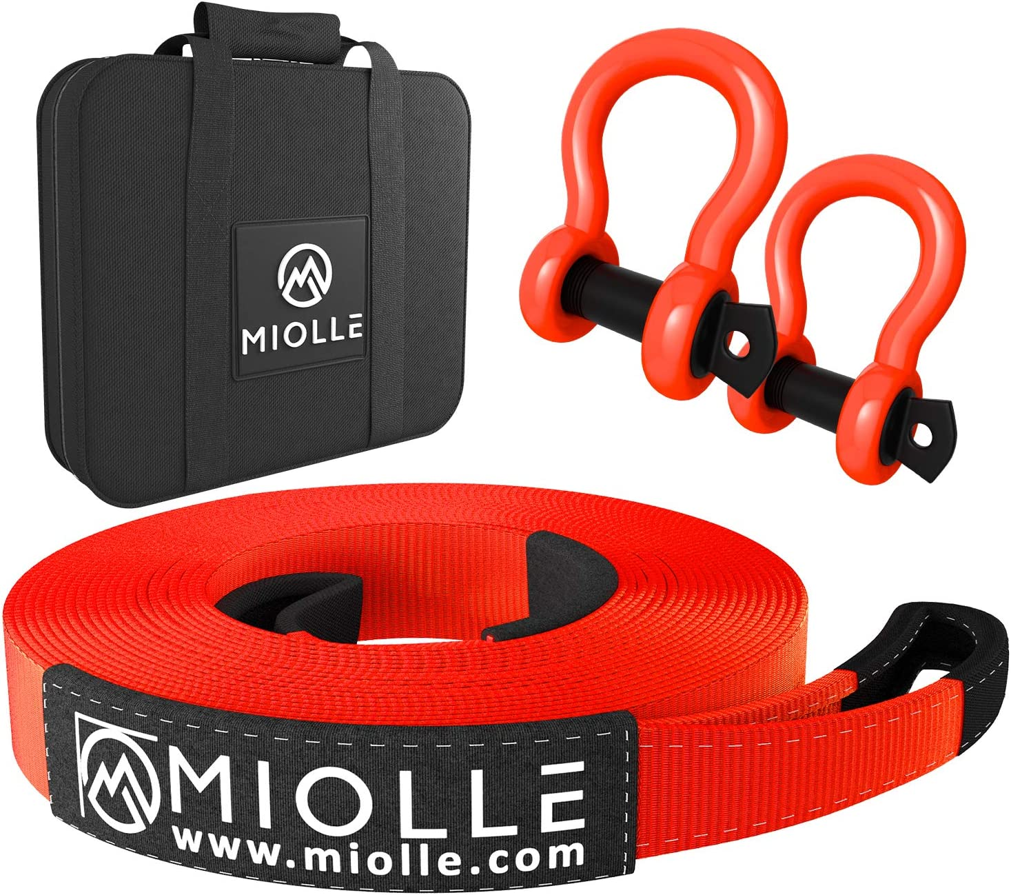 """Miolle High material Heavy Duty Tow Houston Mall Strap 2""""x20'- Lab MBS lbs 20990"""