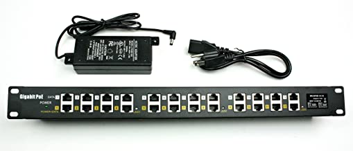 WS-GPOE-12-48v60w gigabit Passive 12 Port Power Over Ethernet Injector POE with 48 Volt 60 watt for 802.3af Devices