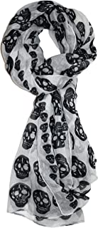 Ted and Jack - Vintage Style Lightweight Skull Print Scarf