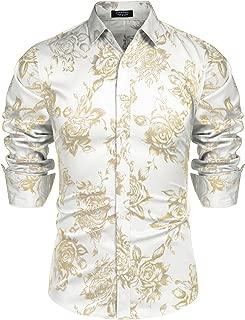 gold and white dress shirt