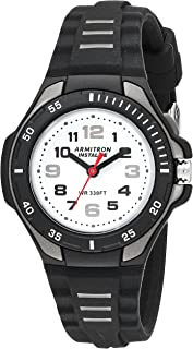 Armitron Sport Women's 25/6433BLK Easy to Read Black Silicone Strap Watch