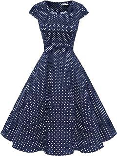 Homrain Donne Anni Cinquanta Vintage A-Line cap Manica Cocktail Swing Partito Vestito