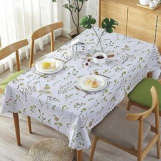 YUANYOU Tovaglia rettangolare con rami verdi e facile da pulire, riutilizzabile e spessa tovaglia in vinile